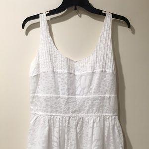Calvin Klein white cotton dress